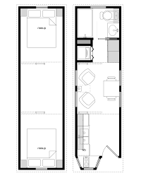 Tiny Home Floorplans by Home Design Sample Floor Plans For The 8x28 Coastal Cottage Tiny