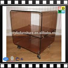 Shelves With Wheels by Smoky Topaz Transparent Brown Acrylic Serving Cart Acrylic