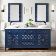 what color hardware for navy cabinets 72 thorton mahogany vanity for semi recessed sink bright navy blue