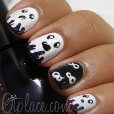 nail art halloween nail art ghosts qtplace phenomenal photo