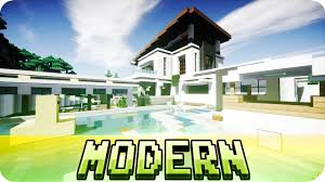minecraft beautiful modern house design map w download youtube