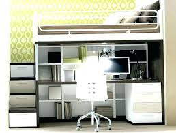 Bunk Bed And Desk Loft Bed Desk Metal Loft Bed With Desk And Futon Chair