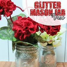 jar vase diy glitter jar vase hairspray and highheels
