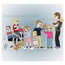 canap famille nombreuse famille nombreuse famille heureuse 8 enfants pour une