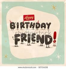 vintage style funny birthday card happy stock vector 327154226