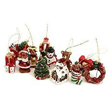 Mini Christmas Tree With Decorating Kit by Gisela Graham Box Of 12 Mini Christmas Tree Decorations Amazon Co
