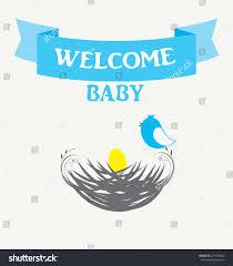 vector illustration baby bird nest baby stock vector 477798682