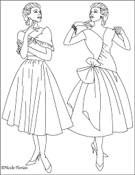 dk coloring pages nicole u0027s free coloring pages vintage fashion coloring pages