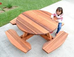 Plans For Outdoor Picnic Table by Round Children U0027s Picnic Table Plans
