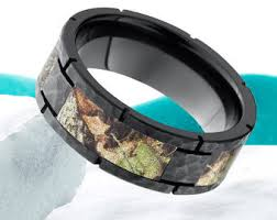 camo wedding bands camo promise ring etsy