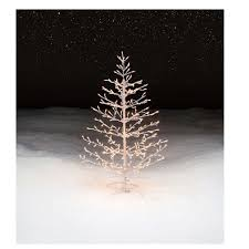 stick christmas tree with lights trim a home 4 5 pre lit christmas stick tree shop your way