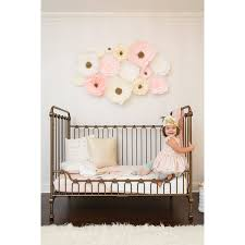 blush pink crepe paper wall flowers paper walls project nursery