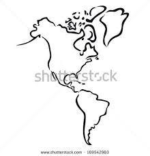 outline of south america map black abstract outline south america stock vector 169542983