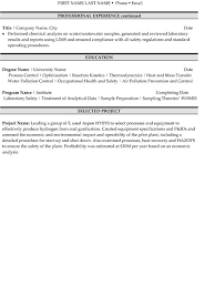 Technician Resume Examples by Environmental Technician Resume Sample U0026 Template