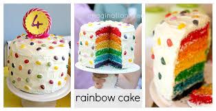 how to make a rainbow cake the imagination tree