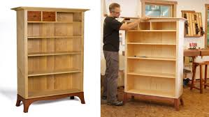 elegant bookcase top to bottom finewoodworking