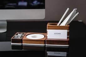 Acrylic Desk Organizer Solid Walnut And White Acrylic Desk Organizer Set Of 4 Pieces