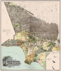 Map Los Angeles Ca by Old County Map Los Angeles California 1898