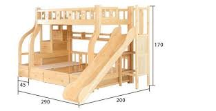 Childrens Bunk Bed With Slide Beds Multi Function Environmental Children Bunk Bed Wooden Beds