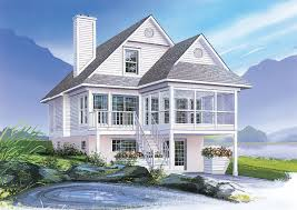 plan 2107dr four seasons sloping lot cottage lake house plans
