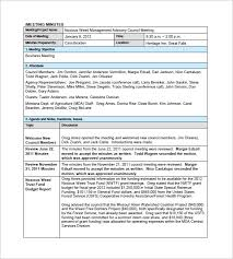 free meeting minutes templates u2013 17 free sample example format
