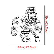 aliexpress com buy indian pattern art wall decals elephant