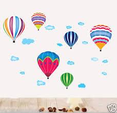 heißluftballon kinderzimmer wandtattoo wandaufkleber 6 heißluftballon luftballons wand sticker
