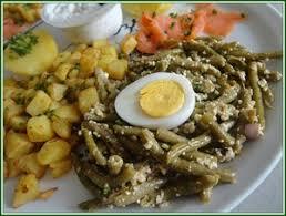 cuisiner des haricots verts salade de haricots verts aux oeufs durs recette iterroir
