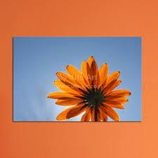 modern home decor canvas painting set wall art orange flower
