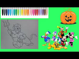 crayola halloween coloring pages donald duck halloween coloring for kids mickey mouse coloring