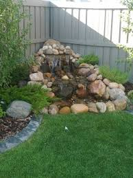Pond In Backyard by Best 25 Outdoor Waterfalls Ideas On Pinterest Backyard Water