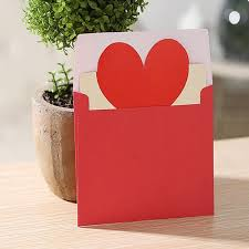 Wedding Wishes Envelope Aliexpress Com Buy 5pcs Heart Shape Greeting Cards Cute Lovely