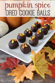 pumpkin spice oreo cookie balls easy treats a