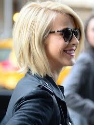 julianne hough shattered hair straight bob hairstyles blonde short hair blonde short hair