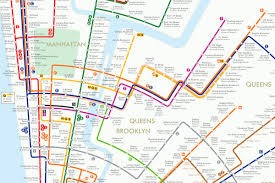 Subway Map Manhattan by Circular Subway Map Reimagines New York As A Colorful Geometric