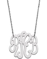 Monogrammed Sterling Silver Necklace Amazing Deal On Monogram Necklace In Sterling Silver 3 Initials