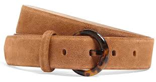 light brown suede belt lyst brooks brothers suede belt with tortoise buckle in brown