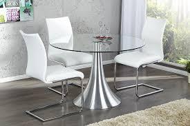 table de cuisine en verre trempé table de cuisine ronde en verre trempé cuisine idées de