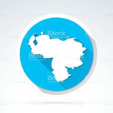 Venezuela World Map by Venezuela Map Icon Flat Design Long Shadow Stock Vector Art