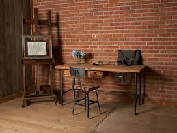 Pipe Desk Extra Thick Pipe Reclaimed Wood Desk Industrial Desk by Luxury Offices Beautifully Reclaimed Wooden Desks