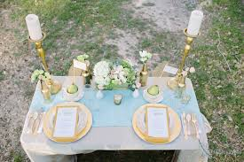 Backyard Wedding Centerpiece Ideas Metallic Wedding Decor Diy Backyard Wedding Ideas Marquette