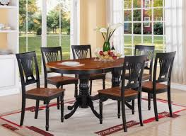 Black Wood Dining Chair Furniture Teak Wood Expandable Dining Table And Four Chair With