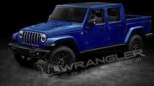 jeep wagoneer 2019 2019 jeep wrangler pickup predictably rendered