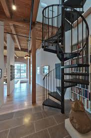 decorating gorgeous home architecture design with wooden spiral
