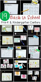 pre k and kindergarten back to activities and centers