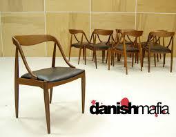 Teak Dining Chairs For Sale Mid Century Danish Modern Set Of 10 Teak Johannes Andersen Dining
