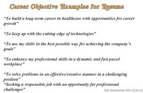 resume exles for objective section basic resume objective statements