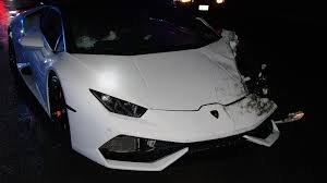 lamborghini allegedly drunken fool crashes rented lamborghini after police