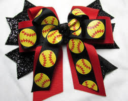 softball bows yellow softball etsy trista softball bows and