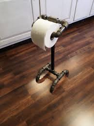 industrial pipe toilet paper stand holder this industrial modern